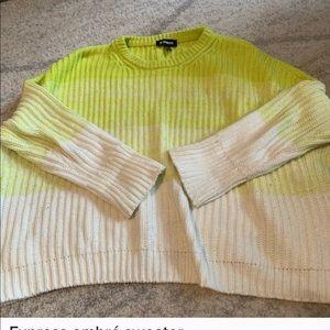 Express ombré sweater